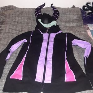 Maleficent hoodie with horns!